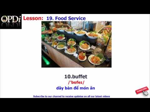 Oxford dictionary - 19. Food Service - learn English vocabulary with picture