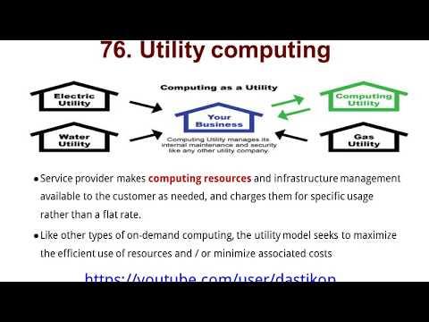 T- Lesson 76.  Utility Computing