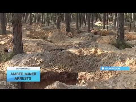 Ukraine Amber Miners Arrests: Police say hundreds conducting illegal mining in Volyn