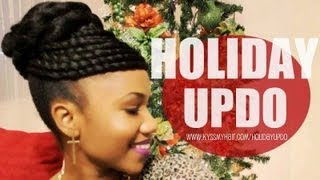 VIDEO: PROTECTIVE STYLE TUTORIAL: Faux hawk twisted updo