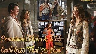 """Castle 6x20 """"That '70s Show"""" Promotional Photos & BTS (HD) Season 6 Episode 20"""