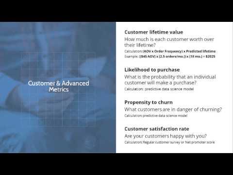 eCommerce Metrics Webinar - Learn what every eCommerce company needs to track
