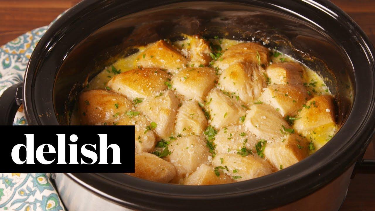 Crock Pot Chicken Dumplings Delish Youtube