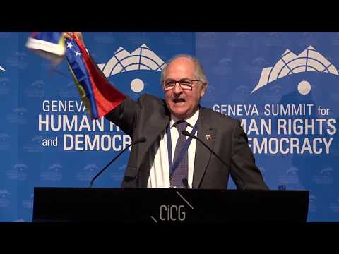 Antonio Ledezma at Geneva Summit 2018