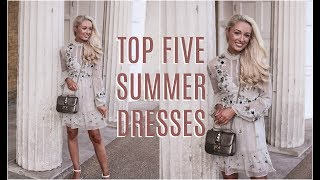 TOP FIVE SUMMER DRESSES |  How To Style Affordable High Street Dresses   |   Fashion Mumblr  Haul