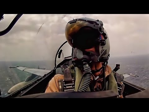 Aircraft Carrier Launch & Land • Cockpit Video From F-18