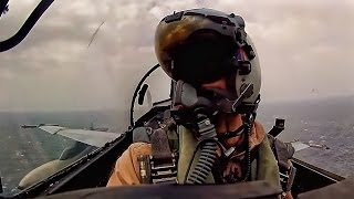 Aircraft Carrier Launch & Land - Cockpit Video From F-18