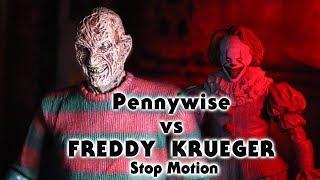 Pennywise Vs Freddy Krueger Stop Motion
