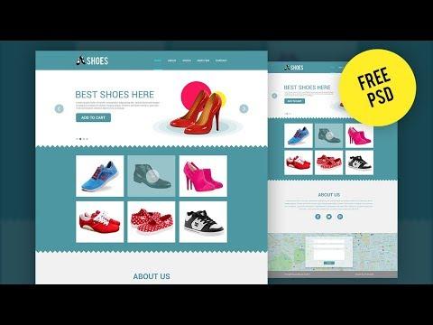 Web Template Design -  UI/UX - Adobe Photoshop CC Tutorial
