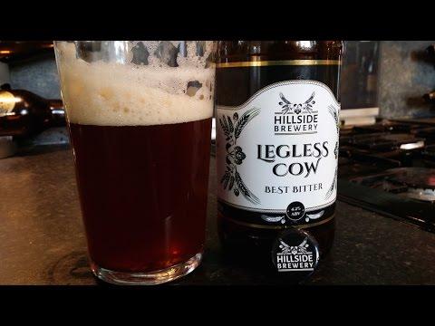 (4K) Hillside Brewery Legless Cow Best Bitter   Craft Beer Review