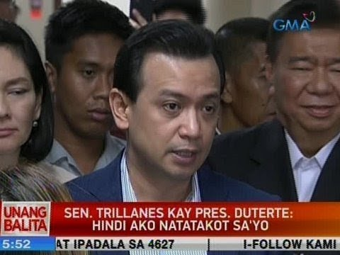 UB: Sen. Trillanes kay Pres. Duterte: Hindi ako natatakot sa'yo