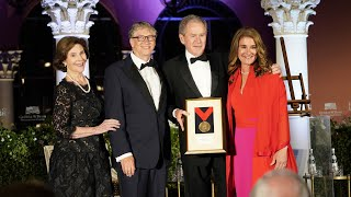 Bill and Melinda Gates Receive the George W. Bush Medal for Distinguished Leadership