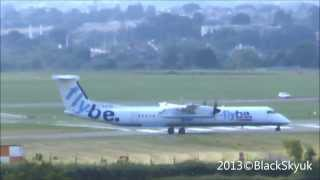 Flybe Dash 8 at Exeter International Airport. Full HD 1080p
