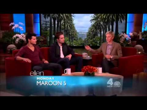 Robert Pattinson and Taylor Lautner on Ellen DeGeneres Show - full interview (2012)