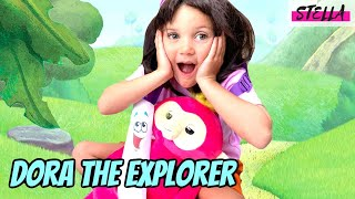 Stella is Dora the Explorer to celebrate the release of