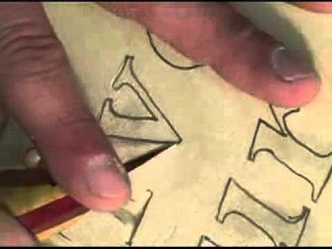 как вырезать буквы ножом