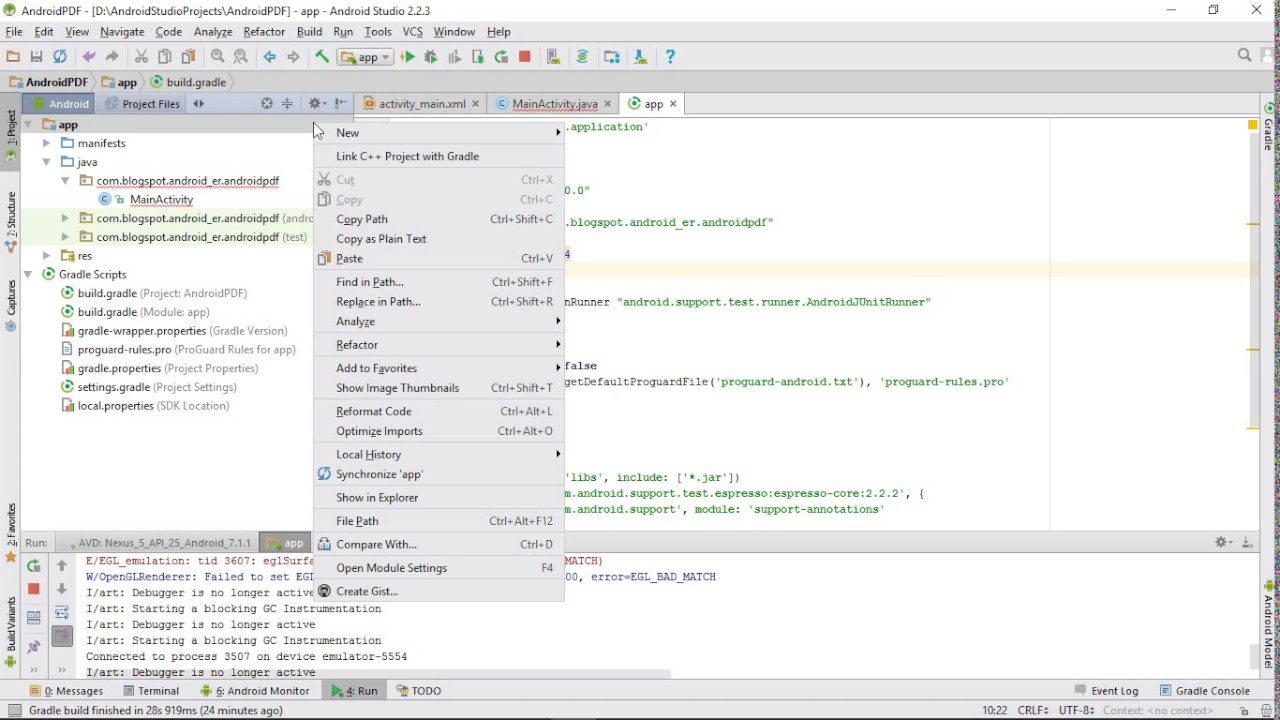 Change minSdkVersion in Android Studio