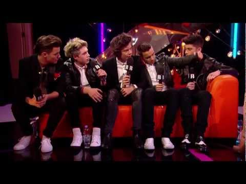 Backstage at the BRITs: One Direction Talks to Laura Whitmore  BRITs 2013