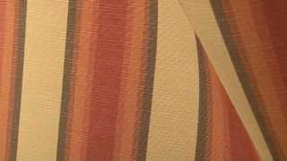 Video Of Sunbrella Colonnade Redwood Awning Stripe #4857-0000