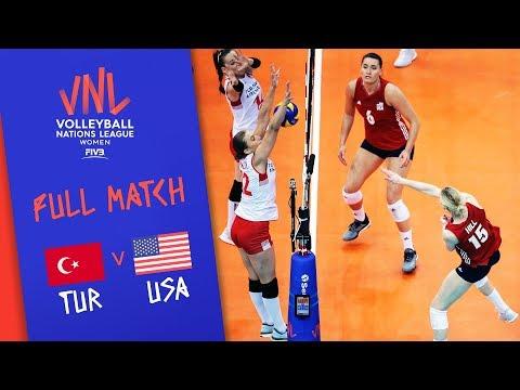 Turkey v USA - Full Match - Final | Women's VNL 2018