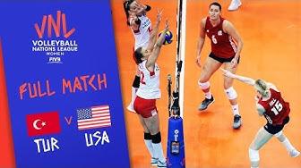 Turkey v USA - Full Match - Final   Women's VNL 2018