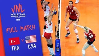 Turkey v USA - Full Match - Final | Women's VNL 2018