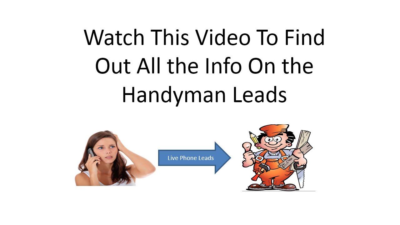 Handyman Leads Free Then $97 - YouTube