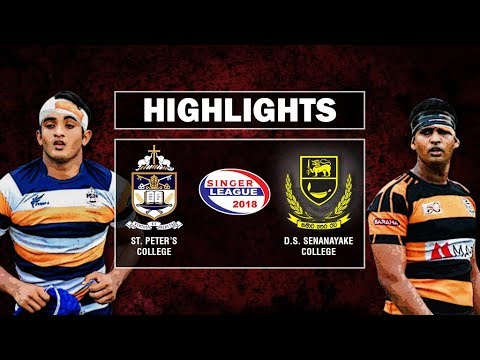 Match Highlights - St. Peter's College v D. S. Senanayake Schools Rugby #28