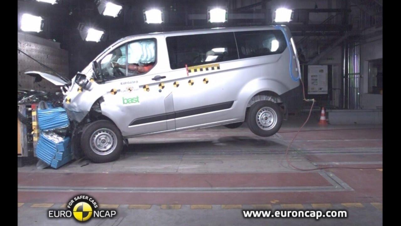 Ford Transit Custom Crash Test Euro Ncap Youtube