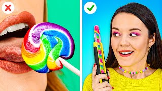 FUNNY BACK TO SCHOOL HACKS! || Best School Supply Tricks by 123 Go! Gold