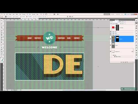 Design a Retro Layout in Photoshop: Welcome Section