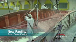 Meridian Yachts  Factory Tour Part 2 - How the boats are built - By BoatTest.com