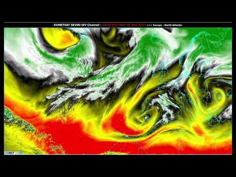 2015 at a glance : Water vapour satellite images (Europe/North Atlantic)