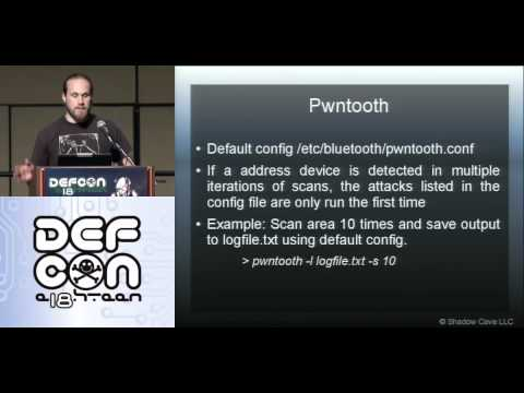 DEFCON 18: Breaking Bluetooth by Being Bored 3/3