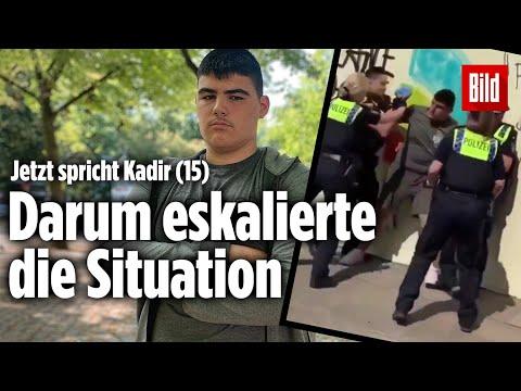 Polizeivideo aus Hamburg: Kadir (15) legt sich mit acht Polizisten an