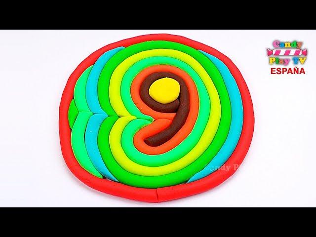 Aprender colores en español para niños Como hacer los número nueve en plastilina Play Doh