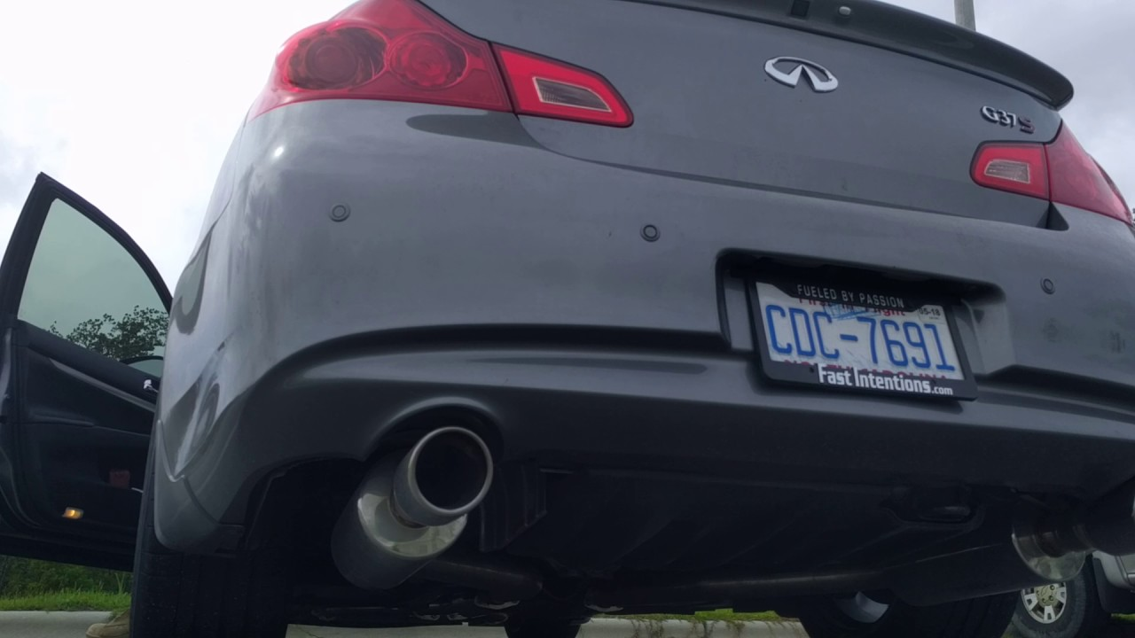 AAM HFC and Fast Intentions Catback cold start - G37S 6MT