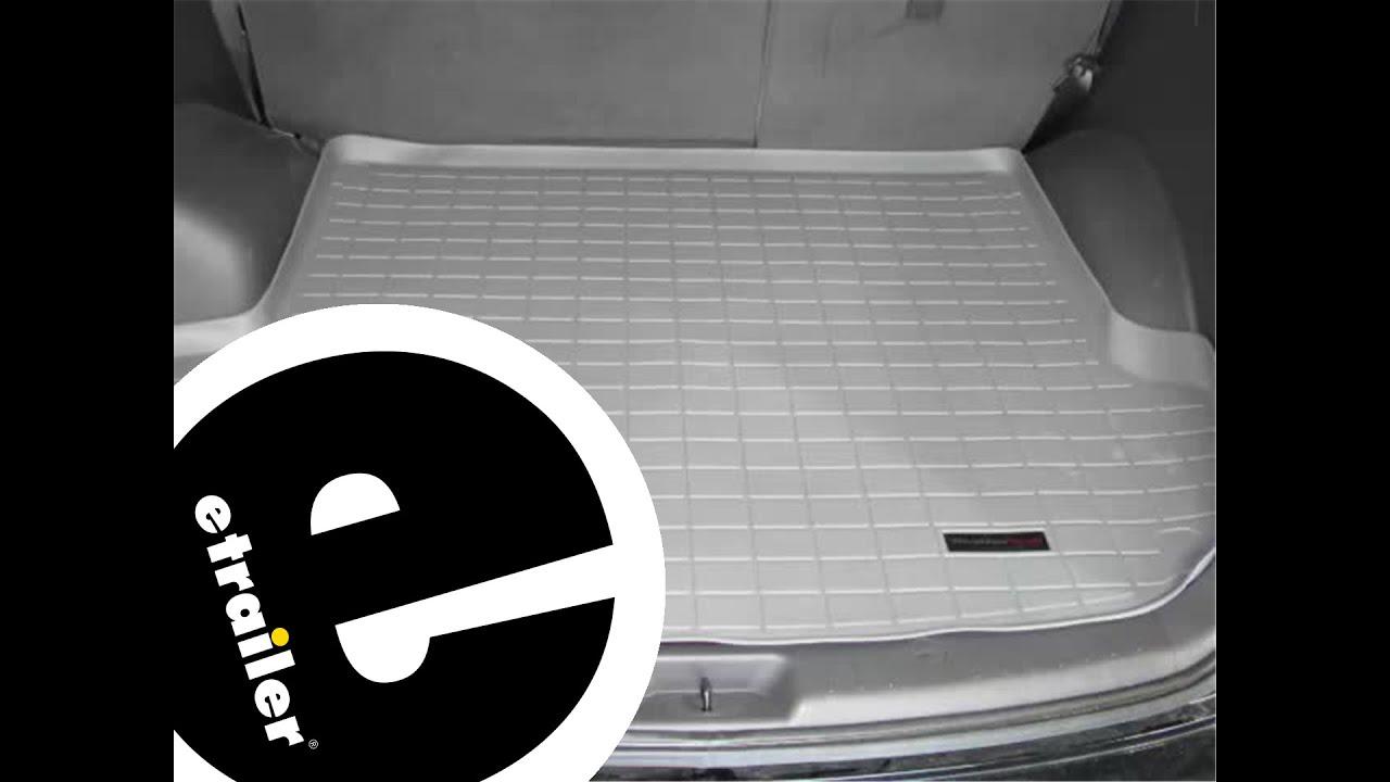 Weathertech floor mats hyundai tucson - Review Of The Weathertech Cargo Floor Liner On A 2010 Hyundai Santa Fe Etrailer Com