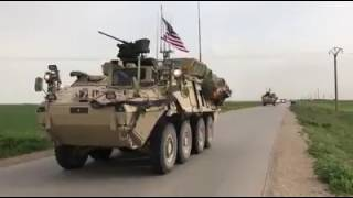 انتشار القوات الأمريكية في بلدة الدرباسية على الحدود مع تركيا