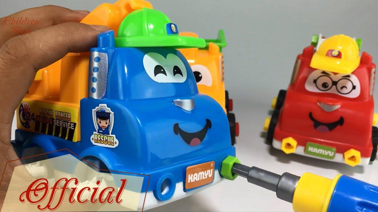 Dump Truck Toy Videos ❤ Truck Assembly Children Toys ❤ Trucks