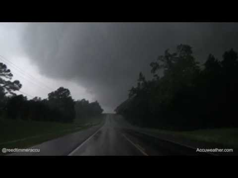 Damaging wedge tornado near Canton, Texas on April 29, 2017
