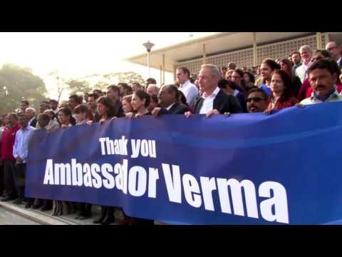 Embassy New Delhi wishes Ambassador Verma farewell