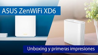 ASUS ZenWiFi XD6: Descubre este sistema WiFi Mesh AX5400 con WiFi 6 y puertos Gigabit Ethernet