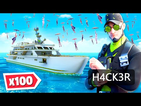 Can 100 PLAYERS Beat A HACKER!? (Fortnite Chapter 2 Season 2)