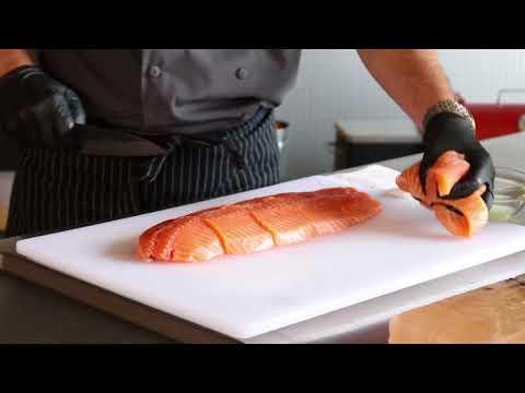 Wild Salmon Cooked On A Himalayan Sea Salt Block • REC TEC Greg