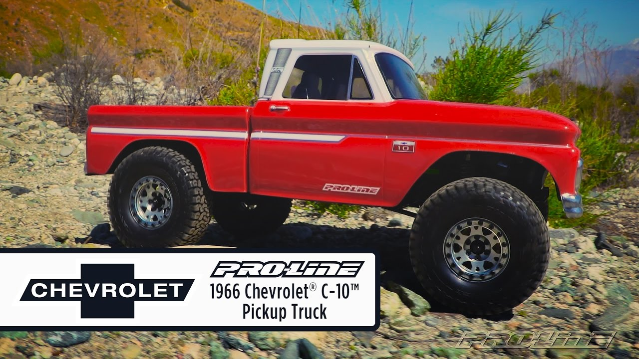 All Chevy chevy c10 body styles : Pro-Line 1966 Chevrolet C-10 Clear Body - YouTube