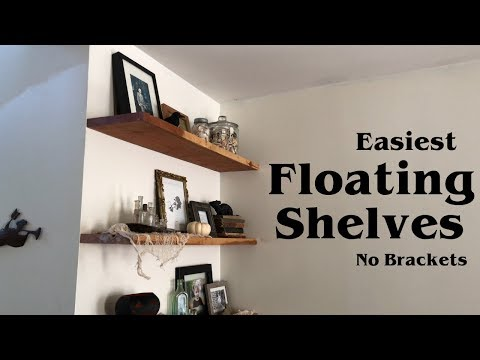 Easiest Floating Shelves with No Brackets // Woodworking Home Project DIY HowTo