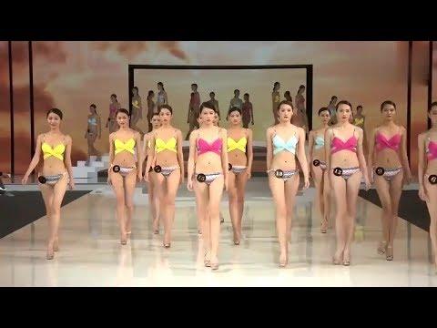 模特走秀:泳装秀中国超级模特大赛清新泳装吸睛上阵!