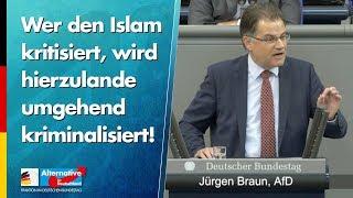 Wer den Islam kritisiert, wird hierzulande umgehend kriminalisiert! - Jürgen Braun - AfD-Fraktion