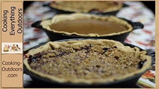Four Easy Holiday Pie Recipes Cooked Outdoors!